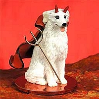 Kuvasz Devilish Pet Figurine