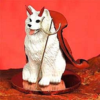 American Eskimo Devilish Pet Figurine