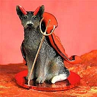 Australian Cattle BlueDog Devilish Pet Figurine
