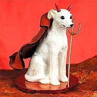 Whippet White Devilish Pet Figurine