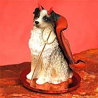 Australian Shepherd Brown w/Docked Tail Devilish Pet Figurine