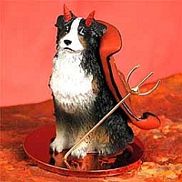 Australian Shepherd Tricolor w/Docked Tail Devilish Pet Figurine