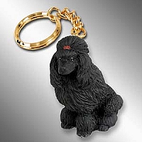 Poodle Black Key Chain