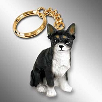 Chihuahua Black & White Key Chain