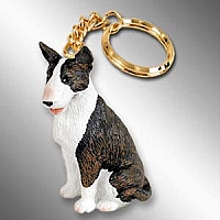 Bull Terrier Brindle Key Chain