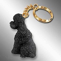 Poodle Black w/Sport Cut Key Chain