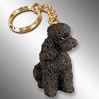 Poodle Chocolate w/Sport Cut Key Chain