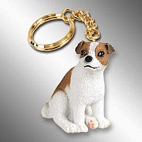 Jack Russell Terrier Brown & White w/Smooth Coat Key Chain