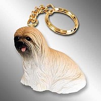 Lhasa Apso Brown Key Chain