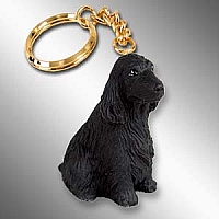 Cocker Spaniel English Black Key Chain