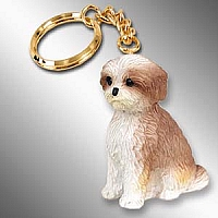 Shih Tzu Tan w/Sport Cut Key Chain