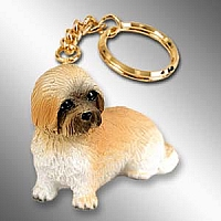 Lhasa Apso Brown w/Sport Cut Key Chain