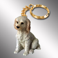 Labradoodle Cream Key Chain