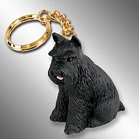 Schnauzer Black Key Chain