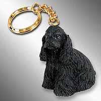 Cocker Spaniel Black Key Chain