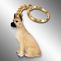 Great Dane Fawn Key Chain