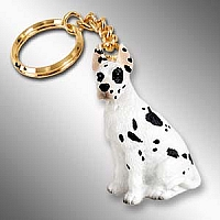 Great Dane Harlequin Key Chain