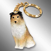 Sheltie Sable Key Chain