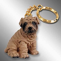 Shar Pei Brown Key Chain