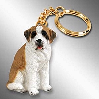 Saint Bernard w/Smooth Coat Key Chain
