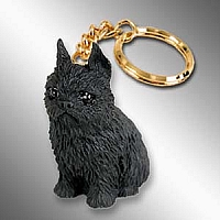 Brussels Griffon Black Key Chain