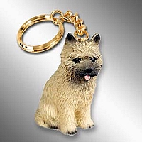 Cairn Terrier Red Key Chain