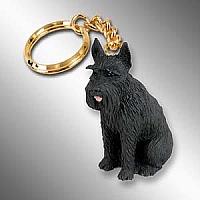 Schnauzer Giant Black Key Chain