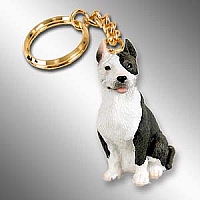 Pit Bull Terrier Brindle Key Chain