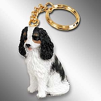 Cavalier King Charles Spaniel Black & White Key Chain