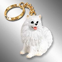 American Eskimo Miniature Key Chain
