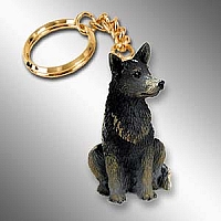 Australian Cattle BlueDog Key Chain