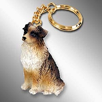 Australian Shepherd Brown Key Chain