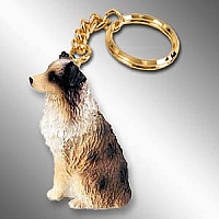 Australian Shepherd Brown w/Docked Tail Key Chain