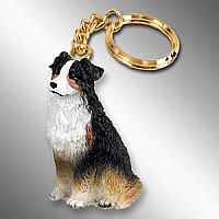 Australian Shepherd Tricolor Key Chain