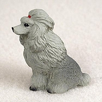 Poodle Gray Tiny One Figurine