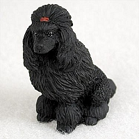 Poodle Black Tiny One Figurine