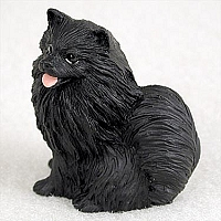 Pomeranian Black Tiny One Figurine