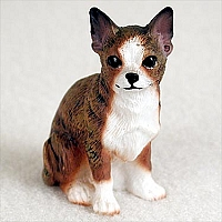 Chihuahua Brindle & White Tiny One Figurine