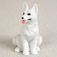 German Shepherd White Tiny One Figurine