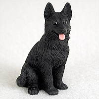 German Shepherd Black Tiny One Figurine
