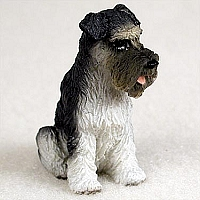Schnauzer Gray w/Uncropped Ears Tiny One Figurine