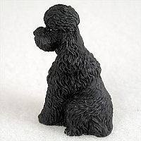 Poodle Black w/Sport Cut Tiny One Figurine