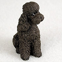 Poodle Chocolate w/Sport Cut Tiny One Figurine