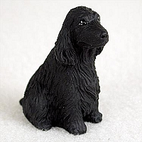 Cocker Spaniel English Black Tiny One Figurine