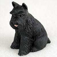 Schnauzer Black Tiny One Figurine