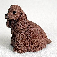 Cocker Spaniel Brown Tiny One Figurine