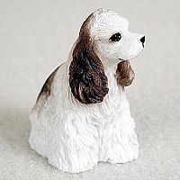 Cocker Spaniel Brown & White Tiny One Figurine