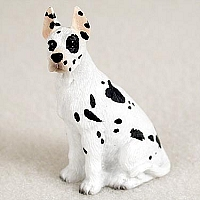 Great Dane Harlequin Tiny One Figurine