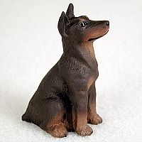 Doberman Pinscher Red w/Cropped Tiny One Figurine