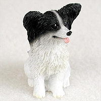 Papillon Black & White Tiny One Figurine